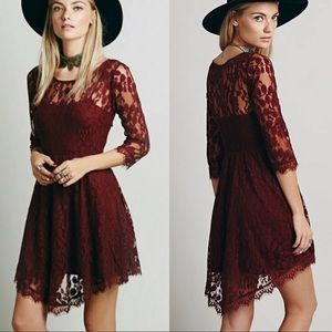 Free People Mesh Lace Floral Handkerchief Dress 4